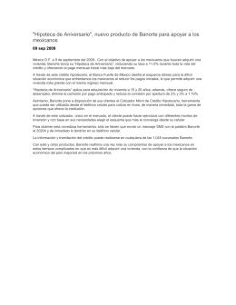 """""""Hipoteca de Aniversario"""", nuevo producto de Banorte para apoyar"""