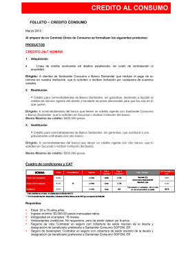 FOLLETO – CREDITO HIPOTECARIO