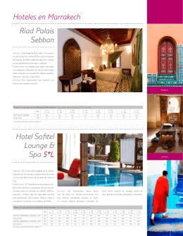 Hoteles en Marrakech Riad Palais Sebban Hotel Sofitel