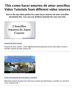 #Z como hacer amarres de amor sencillos PDF video books