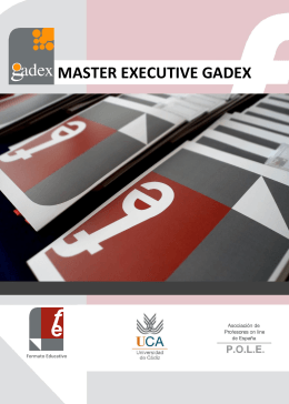 Master Executive Programa Gadex
