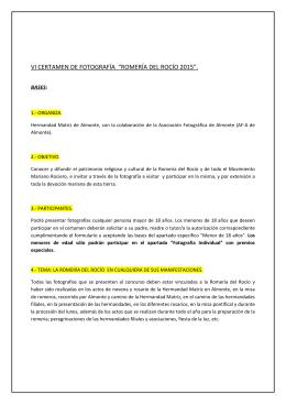"""vi certamen de fotografía """"romería del rocío 2015""""."""