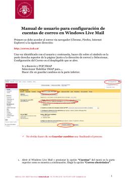 Manual de usuario para configuración de cuentas de correo