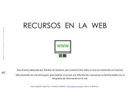 RECURSOS EN LA WEB