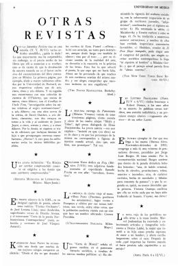 REVISTAS OTRAS - Revista de la Universidad de México