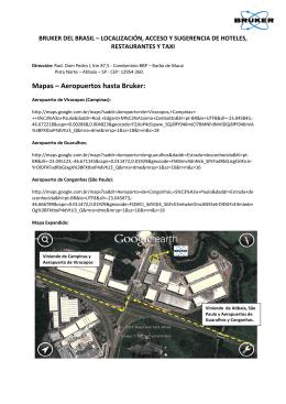 Mapas Aeropuertos hasta Bruker: