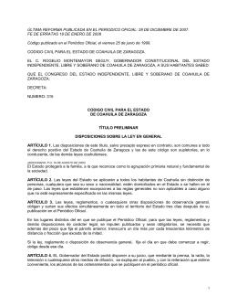 Código Civil del Estado de Coahuila de Zaragoza
