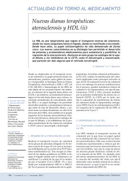 Nuevas dianas terapéuticas: aterosclerosis y HDL (ii)