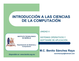 Software - MC Benito Sánchez Raya