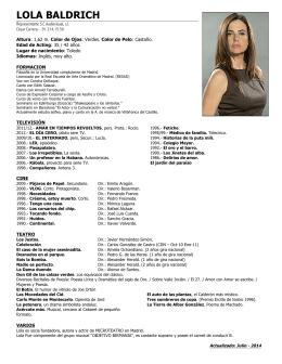 LOLA BALDRICH - César Carrera