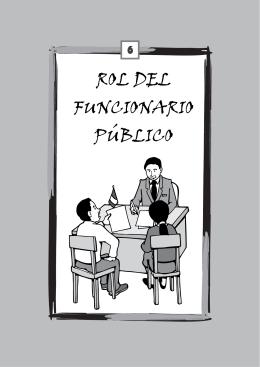 rol de los funcionarios públicos.