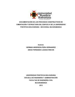 Documentar los procesos constructivos de cimentación