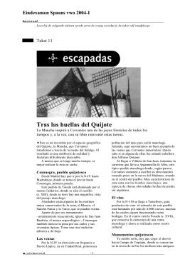 Tras las huellas del Quijote