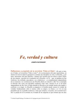 Fe, verdad y cultura
