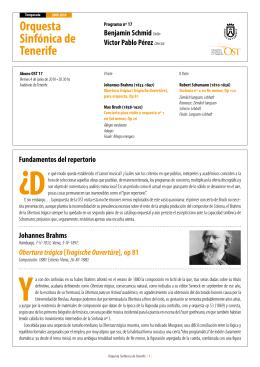 Programa - Orquesta Sinfónica de Tenerife