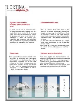 Características de los tejidos Screen