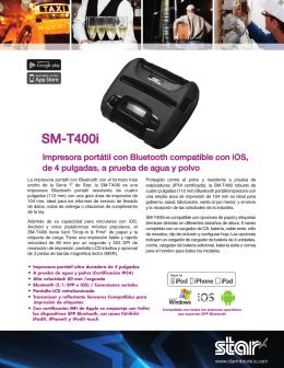 SM-T400i - Product Sheet