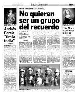 """Andrés García """"tira la toalla"""""""