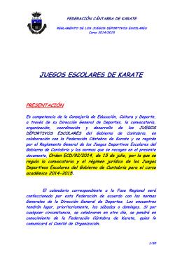 JUEGOS ESCOLARES DE KARATE