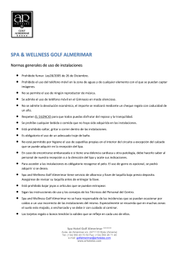SPA & WELLNESS GOLF ALMERIMAR