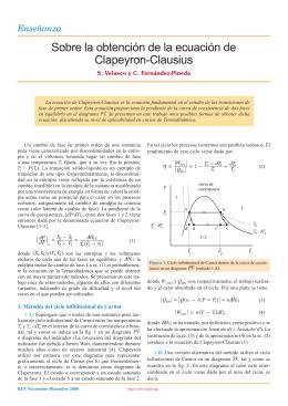 Sobre la obtención de la ecuación de Clapeyron