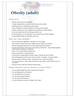 Obesity (adult) - Coordinated Care Health