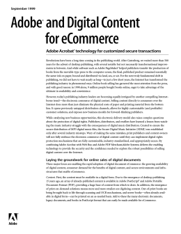 Adobe and digital content for eCommerce