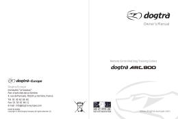 Owner`s Manual - Dogtra Europe