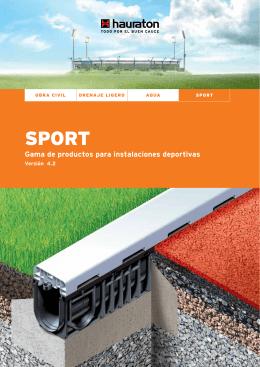 Gama de productos para instalaciones deportivas