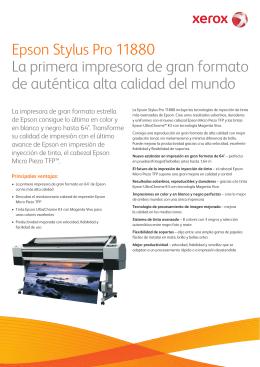 Características técnicas - Xerox 11880 por Epson