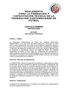 reglamento para la formación y capacitación tecnica de la