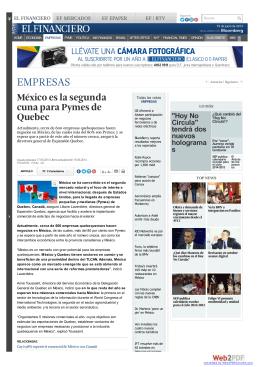México es la segunda cuna para Pymes de Quebec | El Financiero