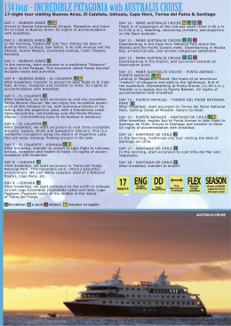 134 tour - INCREDIBLE PATAGONIA with AUSTRALIS CRUISE
