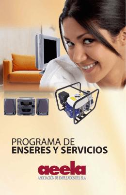 PROGRAMA DE ENSERES Y SERVICIOS