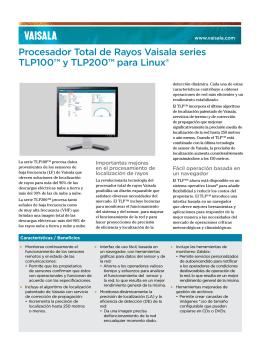 Procesador Total de Rayos Vaisala series TLP100™ y TLP200