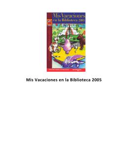 Mis Vacaciones en la Biblioteca 2005