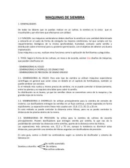 MAQUINAS DE SIEMBRA