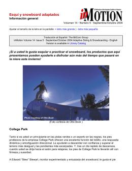inMotion: Esquí y snowboard adaptados
