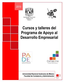 Cursos y talleres del Programa de Apoyo al Desarrollo