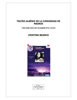 teatro albéniz de la comunidad de madrid cristina branco