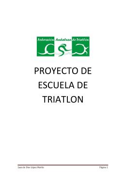 PROYECTO DE ESCUELA DE TRIATLON