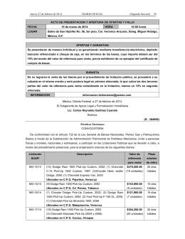 (R.- 384699) Petróleos Mexicanos CONVOCATORIA De