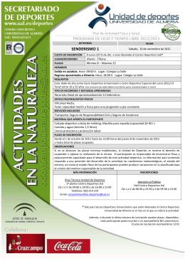PROGRAMA DE OCIO Y TIEMPO LIBRE 2012/2013 SENDERISMO 1
