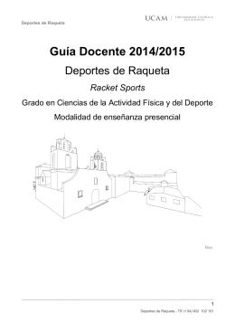 Guía Docente 2014/2015