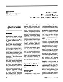 MINI-TENIS: UN MEDIO PARA EL APRENDIZAJE