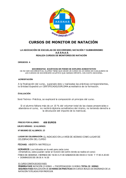 CURSOS DE MONITOR DE NATACIÓN