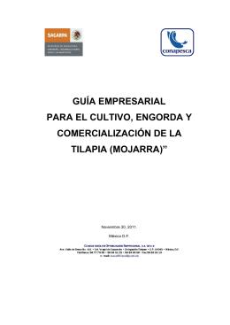 mojarra - Comité Sistema Producto Tilapia de México AC.