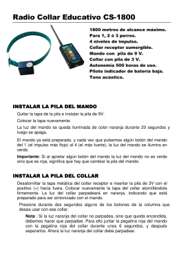 Radio Collar Educativo CS-1800