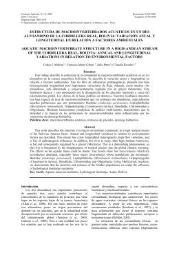 estructura de macroinvertebrados acuáticos en un río altoandino
