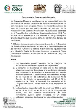 Convocatoria Concurso de Oratoria Preparatoria.